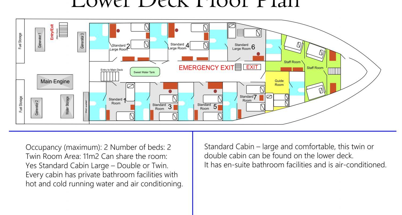 Lower Deck Floor Plan